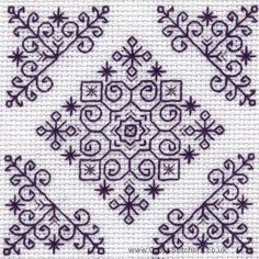 Ideas embroidery patterns free blackwork for 2019 Kasuti Embroidery, Embroidery Designs, Embroidery Patterns Free, Embroidery Kits, Cross Stitch Embroidery, Cross Stitching, Embroidery Tattoo, Cross Stitch Pattern Maker, Cross Stitch Patterns