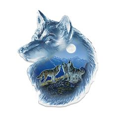 Wolf Wall Decor Collection: Souls Of The Night Double Image, Wolf Stuff, Howl At The Moon, Night Love, Wolf Spirit, Native American Art, Fantasy World, Wall Sculptures, Some Pictures