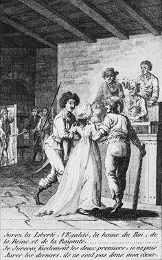 die Princesse de Lamballe vor dem Tribunal (Zeichnung um 1801) Ludwig Xiv, Time In France, French Revolution, Louis Xvi, Marie Antoinette, Versailles, 18th Century, History, Portrait