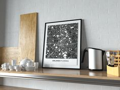 Now available in our store: Premium Map Poste... Check it out here! http://shop.mapprints.co/products/premium-map-poster-of-orlando-florida-simple-contrast-unframed-orlando-map-art?utm_campaign=social_autopilot&utm_source=pin&utm_medium=pin