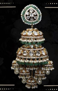 Open setting polki jhumka - Source by - Indian Jewelry Earrings, Fancy Jewellery, Silver Jewellery Indian, Jewelry Design Earrings, Beaded Jewelry Designs, Indian Wedding Jewelry, Gold Earrings Designs, Trendy Jewelry, Bridal Jewelry