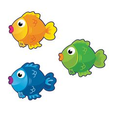 sea creatures clip art cute tropical fish clip by nrcdesignstudio rh pinterest com