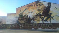 Grafiti La lucha continúa. Málaga BoulevArt #StreetArt #UrbanArt #Bici