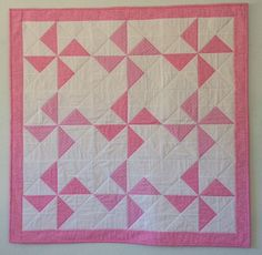 Handmade Baby Quilt, Pink Pinwheels, Baby Shower Gift, Baby Girl Quilt, Baby Blanket, Toddler, Nursery Bedding, Baby Christmas, Patchwork Baby Girl Quilts, Girls Quilts, Quilt Baby, Baby Quilt Patterns, Owl Patterns, Owl Quilts, Purple Quilts, Handmade Baby Quilts, Felt Owls