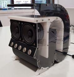 Speaker by Angudu - Thingiverse Pro Audio Speakers, Audiophile Speakers, Diy Speakers, Car Audio, Horn Speakers, Subwoofer Box Design, Speaker Box Design, Svs Subwoofer, High Quality Speakers