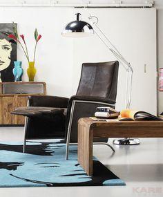 Relax Fauteuil Lazy - Bruin is een strakke relax stoel uit de Kare Design collectie en is nu verkrijgbaar bij Furnies.nl voor €499,-!