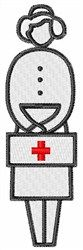 Concord Collections Embroidery Design: Red Cross Nurse 3.96 inches H x 1.18 inches W