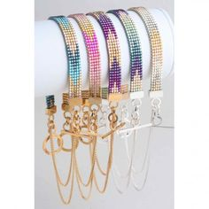 Beaded Friendship Bracelet  ---  These have gone a long way since I used to make them in grade school! love the closures.