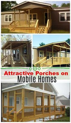 Wonderful porches on mobile homes make such a wonderful difference in livability and curb appeal. Look at these porch designs for mobile homes that we share here. Decor Style Home Decor Style Decor Tips Maintenance Mobile Home Porch, Mobile Home Living, Porches On Mobile Homes, Decks For Mobile Homes, Mobile Home Renovations, Remodeling Mobile Homes, Mobile Home Exteriors, House Renovations, House Remodeling