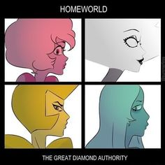 This is an actual album cover but whatever its cool Steven Universe Diamond, Steven Universe Memes, Universe Art, Peace And Love, My Love, Cartoon Tv, Gorillaz, Cartoon Network, Crossover