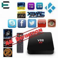 [ 34% OFF ] Rockchip 3229 Quad Core 4K Kodi 16.1 Smart V88 Tv Box Android 5.1 Media Player 8G Emmc 2.0 Hdmi European Iptv Set Top Box Xbmc