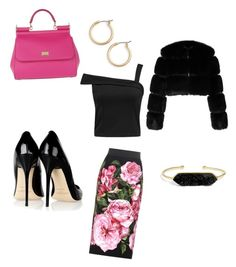 """Pink Dolce"" by mary-ann-massad on Polyvore featuring Dolce&Gabbana, Givenchy, Jimmy Choo, BaubleBar and Nordstrom"