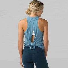 Wear it high or low, feel the breeze and look great! Tied Back Top on sale now! Size(in) Bust Length S 24 M 25 L 18 26 Item Type: Shirts Sport Type: Yoga Feature: Breathable,Anti-Pilling,Quick Dry Brand Name: INWIKI Gender: Women Model Number: T Workout Attire, Workout Wear, Workout Style, Nike Workout, Workout Tanks, Curvy Workout, Pilates Workout, Yoga Tank Tops, Athletic Tank Tops