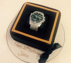 Tag Heuer 30th Birthday Cake. Great idea!