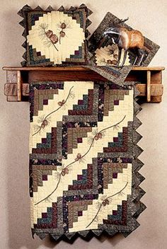 Amazing log cabin quilt