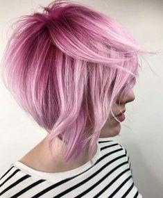 Pastel pink hair pixie