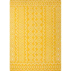 Found it at AllModern - Cristopher Hand-Woven Yellow Area Rug
