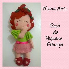 Rosa Pequeno Príncipe Versão da rosa em forma de menina. Uma graça