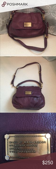 Marc by Marc Jacobs Plum Workwear Bag Gently-used authentic Marc by Marc Jacobs workwear shoulder bag in a beautiful plum color! Marc By Marc Jacobs Bags Shoulder Bags