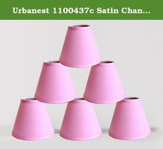 Urbanest 1100437c Satin Chandelier Mini Lamp Shade 6-inch, Hardback, Clip On, Pink(set of 6). Urbanest handmade 6-Inch Satin chandelier shades add soft glow to your home. You can use them for your chandeliers, wall sconces or small accent lamps. The contemporary hardback shades bring modern and wimsical life style to any room setting.