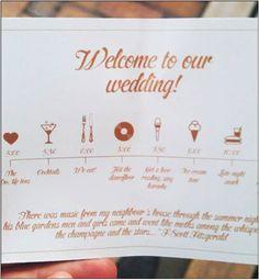 Wedding Timetable