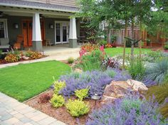 water saving landscape pictures | This Los Gatos residence — an example of turf in moderation — was ...