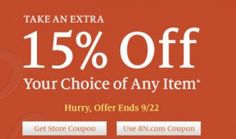 Barnes and Noble 15% off + 8% Cash Back with a B & N Digital Gift Card from ShoppingBoss!