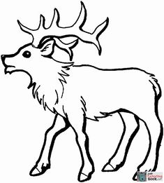 young elk coloring page free printable coloring pages with running elk coloring pages Deer Coloring Pages, Free Printable Coloring Pages, Coloring Pages For Kids, Free Coloring, Dog Antlers, Reindeer Antlers, Antler Drawing, Moose Pictures, Leather Working Patterns