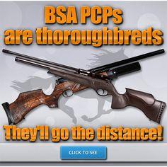 NEW BSA PCP Repeaters: Thoroughbreds that go the distance. http://www.pyramydair.com/a/Air_guns/588/new/BSA/brands_34?utm_source=pinterest_medium=social_campaign=airg-eblast-newprod-bsa-pcps
