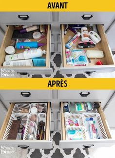 Trendy Home Diy Closet Drawers Apartment Closet Organization, Home Organisation, Organization Hacks, Bathroom Drawer Organization, Organizar Closets, Closet Organizer With Drawers, Closet Drawers, Organizing Drawers, Organizing Tips