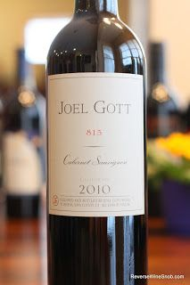 Joel Gott 815 Cabernet Sauvignon 2010 -Taste has hints of mineral, earthy and faint green pepper aroma. Light leather and some astringency also.