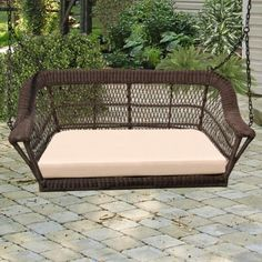 NCI Manchester 5 Foot Hanging 3 Person Wicker Swing - NC369SW