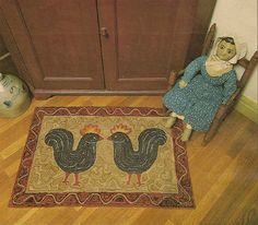 rooster rug