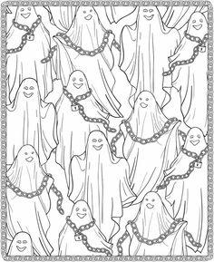 fantasmas desenho colorir halloween