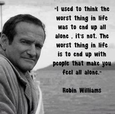 Never worry about being alone.
