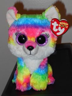 Ty Beanie Boos River The Multi Color Wolf GWL 2016 in Hand for sale online Beanie Boo Dogs, Beanie Babies, Ty Teddies, Ty Peluche, Ty Boos, Ty Stuffed Animals, Plush Animals, Ty Babies, Great Wolf Lodge