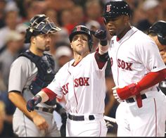 Game #103: It might not be a streak yet, but the Sox are putting something together at the right time. Backed by a tiebreaking 2 run homer by Pedroia and another good outing by Buchholz, Boston claimed a 7-3 victory over the Tigers. Middlebrooks hit a two-run shot off the light stanchion giving the Sox some insurance. The Red Sox are 8 1/2 games back, the closest they've been since July 7. Boston trails by 4 games for the Wild Card. Pictured: Dustin Pedroia celebrates his 6th inning home…