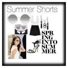 """""""Summer Shorts"""" by dimeond711 on Polyvore featuring River Island, Amour, Vince Camuto, Sophia Webster, Karl Lagerfeld and Marc Jacobs"""
