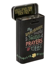 Look what I found on #zulily! 'Thoughts, Feelings' Prayer Box #zulilyfinds