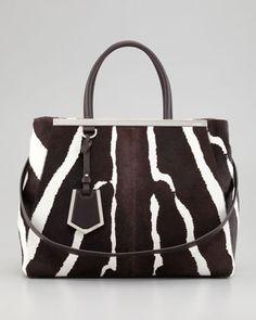 2Jours Medium Zebra-Print Calf Hair Tote Bag  by Fendi at Neiman Marcus. (Pre-Fall 2013 Collection)