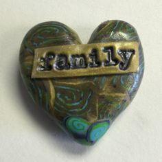 Pocket secret polymer clay heart by Nee Nee Ree * family *