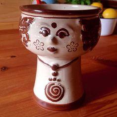 1970s  VEB Haldensleben GDR Lady Vase in perfect condition.