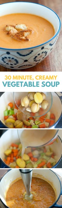 You only need 30 Minutes to make the easy and delicious Vegetable Soup! #soup #vegetables