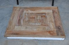 "36""x 36"" Solid Reclaimed Burn-Wood Handmade Restro- Bar Home Coffee Table Tops #Handmade #Modern"