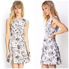 Garden Chic A-Line Dress Never worn; just washed. All over floral print. Sleeveless a-line dress with a round neckline. Pleated skirt. Hidden back zipper. Unlined. ❌No trades and no PayPal. Forever 21 Dresses