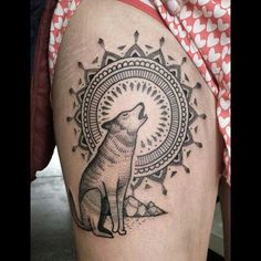 The mandala is a bit much for me, but the wolf is