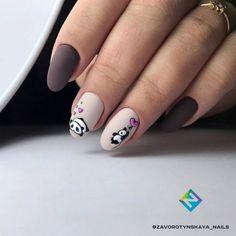 20 Awesome Nail Arts for Creative Person - Adorable panda nail art design - - The most beautiful nail designs Acrylic Nail Art, Nail Art Diy, Cool Nail Art, Diy Nails, Cute Nails, Manicure Ideas, Panda Nail Art, Animal Nail Art, Nail Art Designs