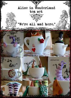 Alice in Wonderland tea set - I must own this!