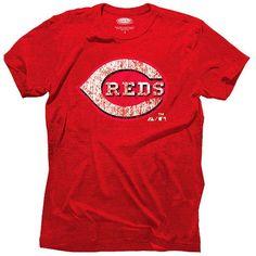 Cincinnati Reds Majestic Threads Tri-Blend Logo T-Shirt - Red - $32.99