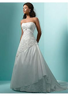 LACE BRIDESMAID PARTY BALL EVENING GOWN IVORY WHITE DIVINE TAFFETA STRAPLESS A-LINE WEDDING DRESS